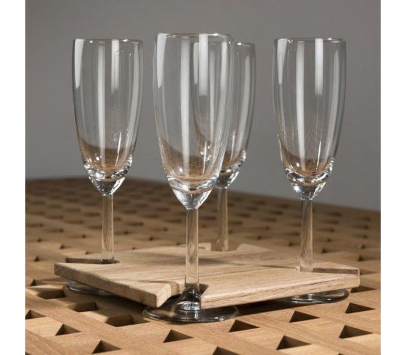 Wijnglashouder Blokroostertafel