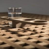 4-Glazenhouder Blokroostertafel