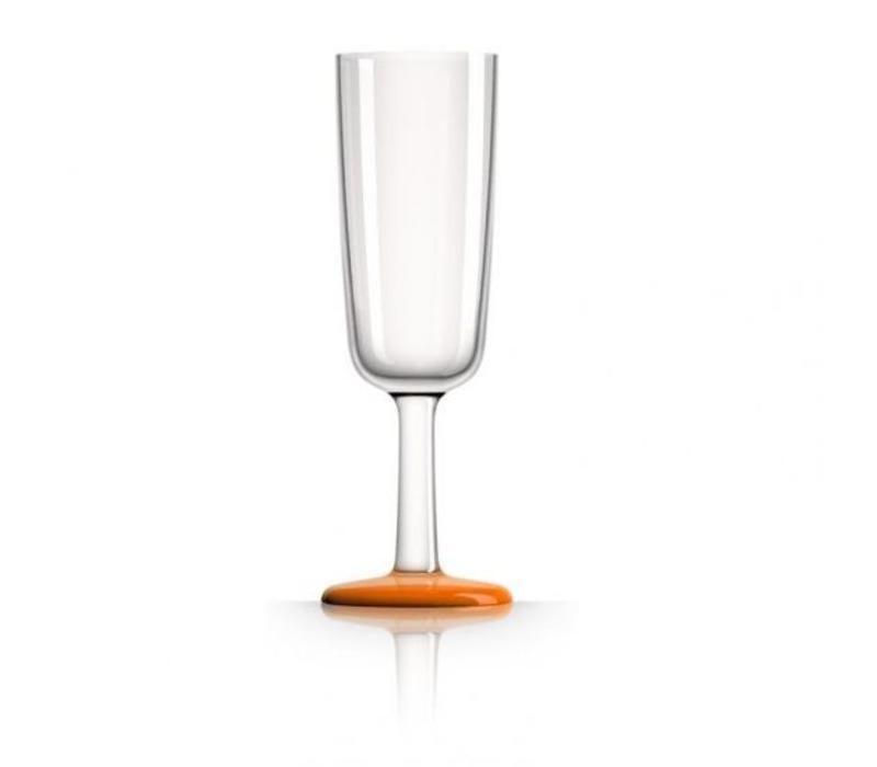 Marc Newson - champagneglas - oranje