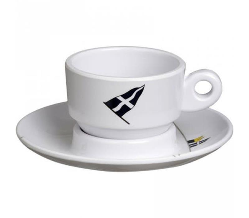 Regata - Espressokop met schotel