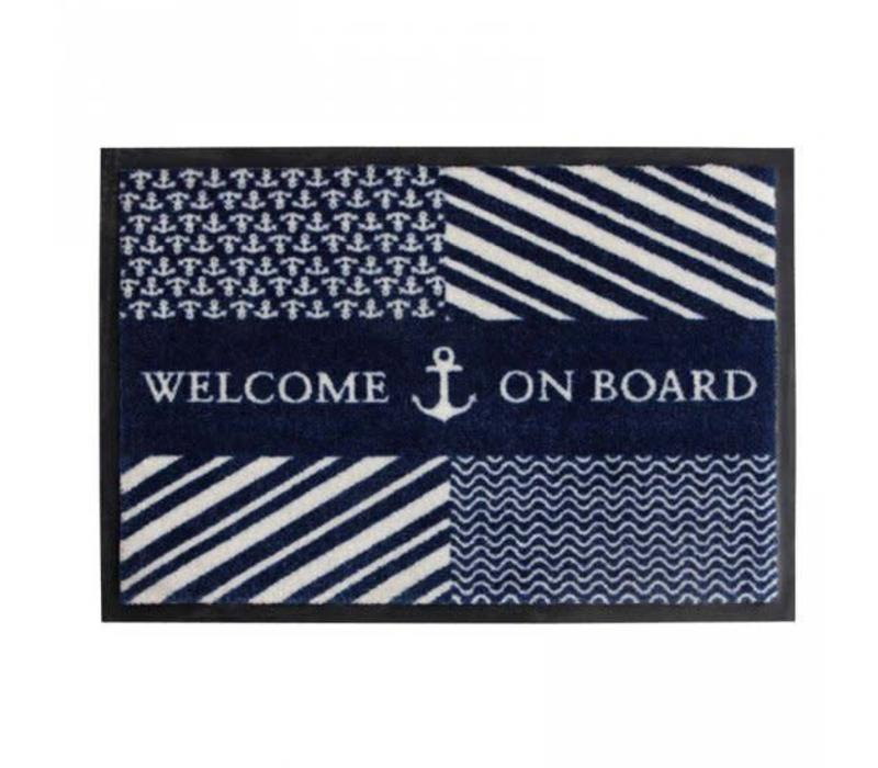 Welcome - Navy - 70x50 cm
