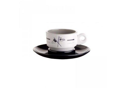 ARC Marine Welcome on Board - Espressokop met schotel - H 4.7 cm