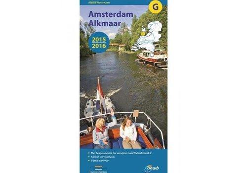 Waterkaart Amsterdam - Alkmaar - G