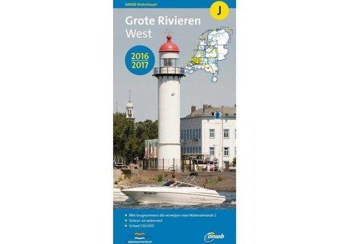 Waterkaart J Grote Rivieren West
