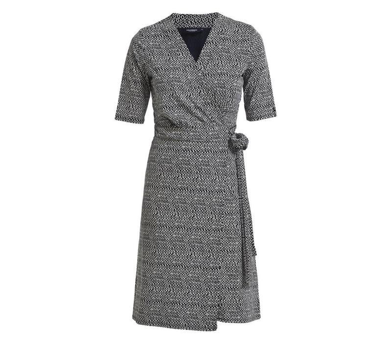 HOLEBROOK Elsa Dress navy/white (pattern)