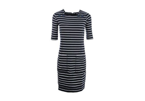 Roosenstein Wolke ROOSENSTEIN WOLKE INEZ DRESS NAVY/OFFWHITE