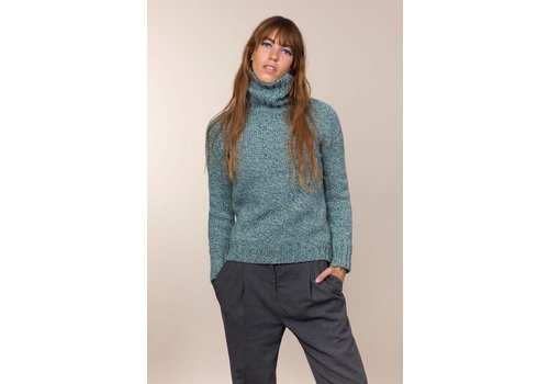 Fisherman out of Ireland FISHERMAN OUT OF IRELAND POLO NECK SWEATER GREENERY