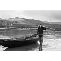 FISHERMAN OUT OF IRELAND ZIP NECK SWEATER DARK OLIVE