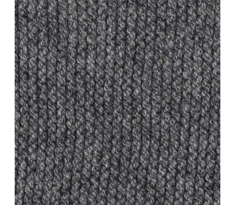 FISHERMAN OUT OF IRELAND SEED STITCH POLO NECK SWEATER - GREY -02