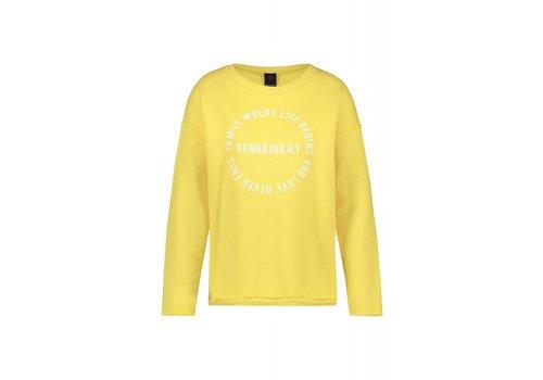 PENN&INK Sweater Print Lemon / White S19F463 197 /01