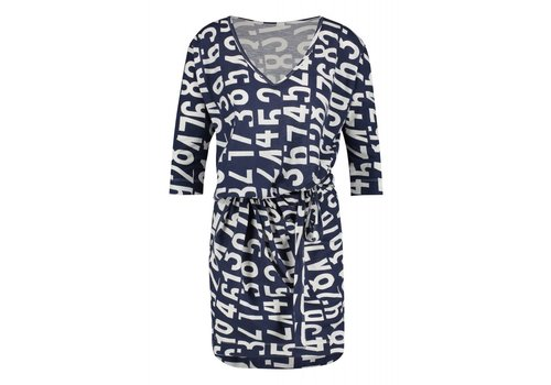 PENN&INK PENN&INK DRESS AOP INDIGO COTTON