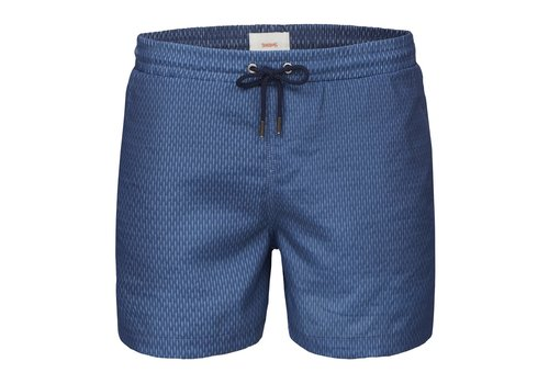 SWIMS SWIMS BREEZE SWIMSHORTS LONG NAVY GRID