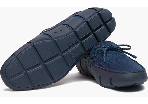 SWIMS SWIMS Braided Lace Loafer Navy
