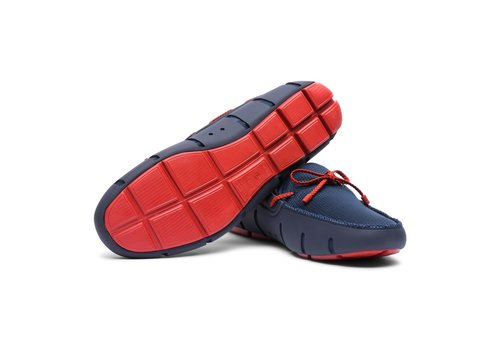 SWIMS SWIMS BRAIDED LACE LOAFER NAVY/RED