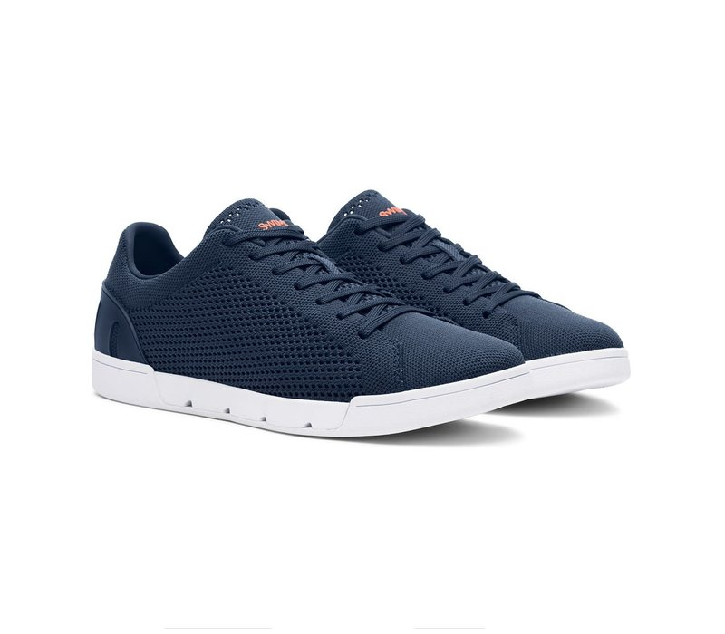 SWIMS BREEZE TENNIS KNIT NAVY WHITE