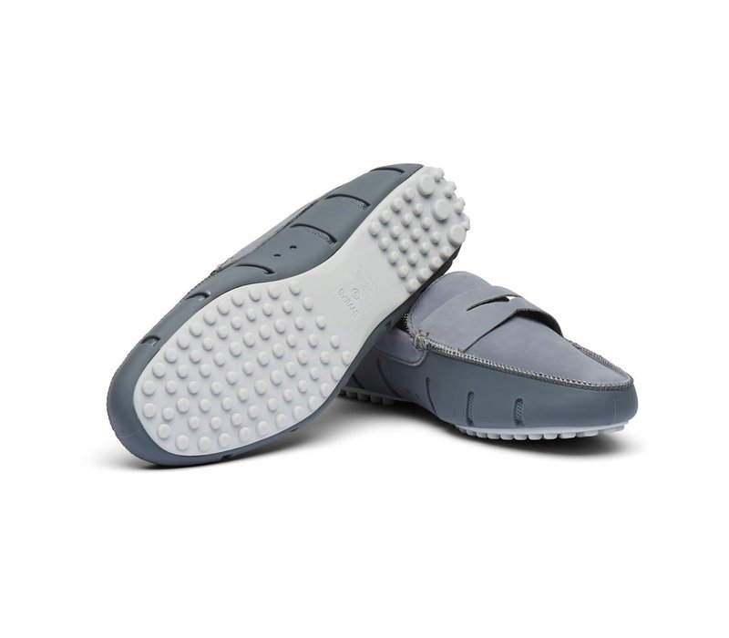 SWIMS PENNY LUX LOAFER DRIVER GREY