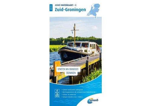 ANWB Waterkaart  3 Zuid-Groningen 2019