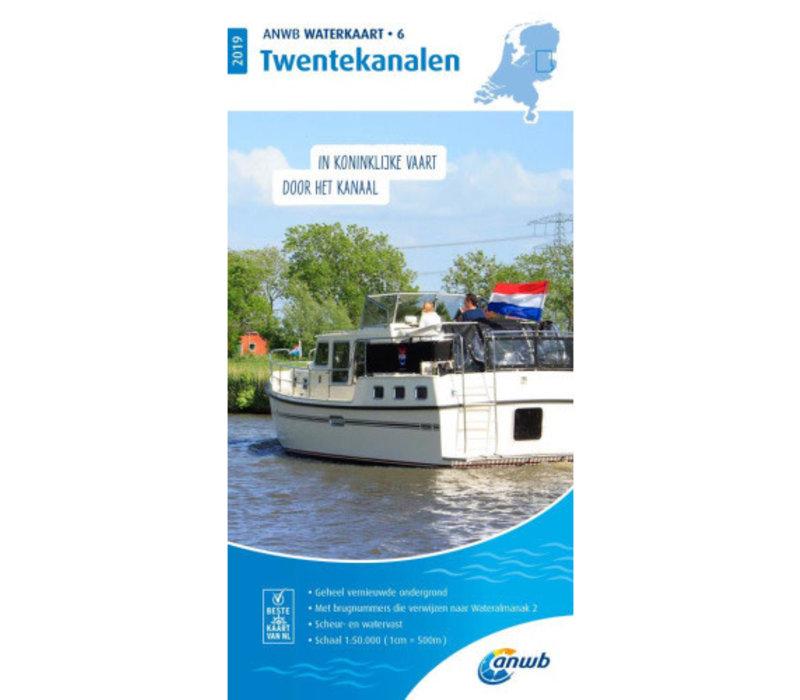 ANWB Waterkaart 6 Twentekanalen 2019