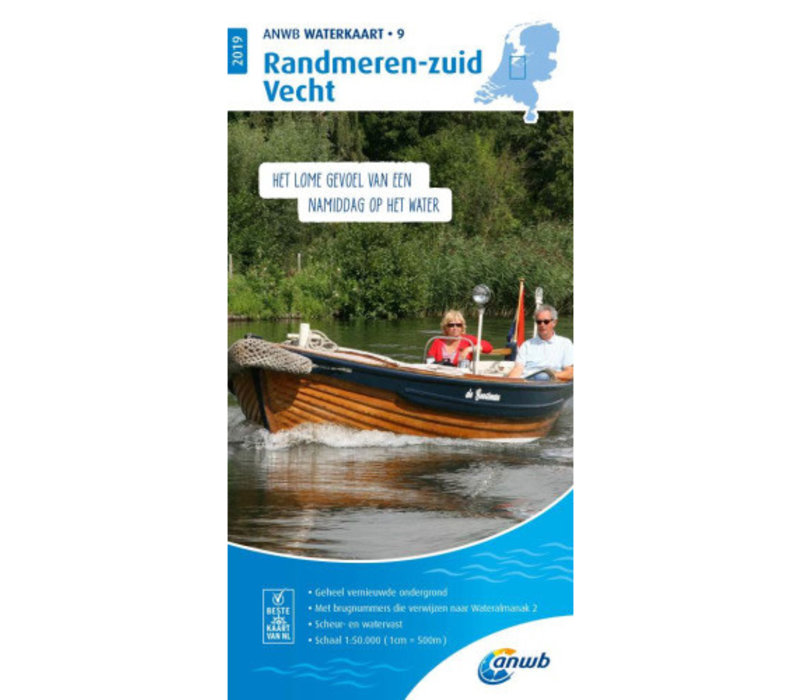 ANWB Waterkaart 9 Randmeren-zuid / Vecht 2019