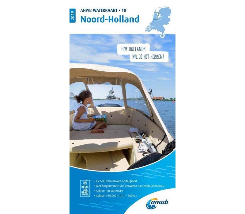 ANWB Waterkaart 10 Noord-Holland 2019