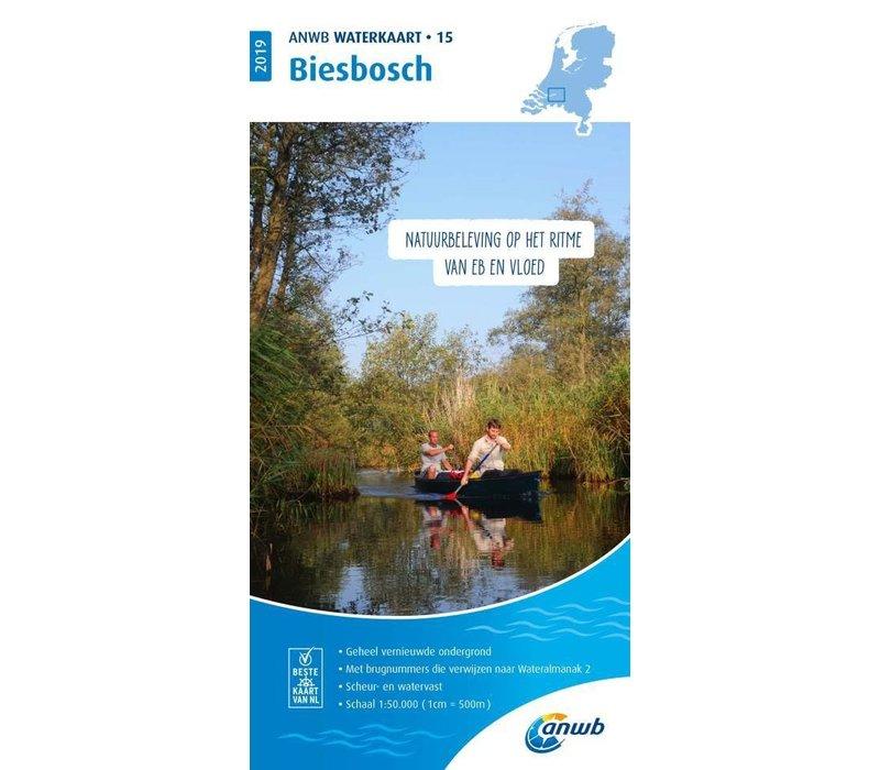 ANWB Waterkaart 15 Biesbosch 2019