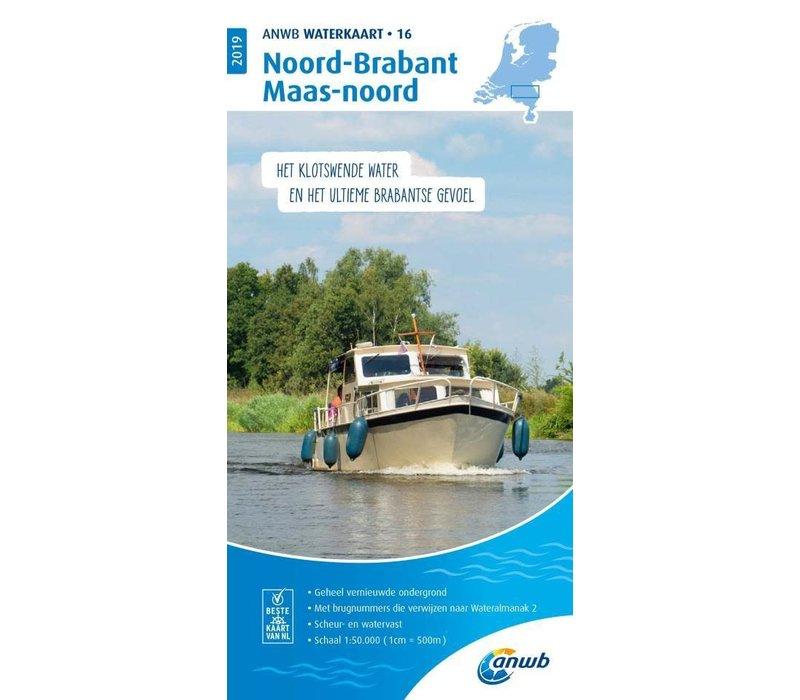 ANWB Waterkaart 16 Noord-Brabant en Maas-noord 2019 | ANWB