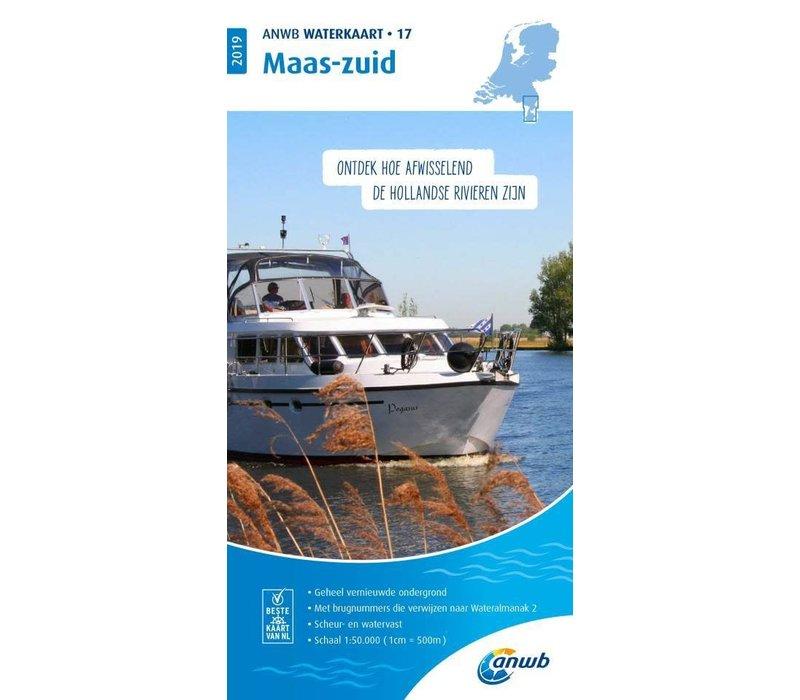 ANWB Waterkaart 17 Maas-zuid 2019
