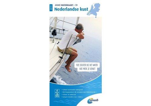 ANWB Waterkaart 19 Nederlandse Kust 2019