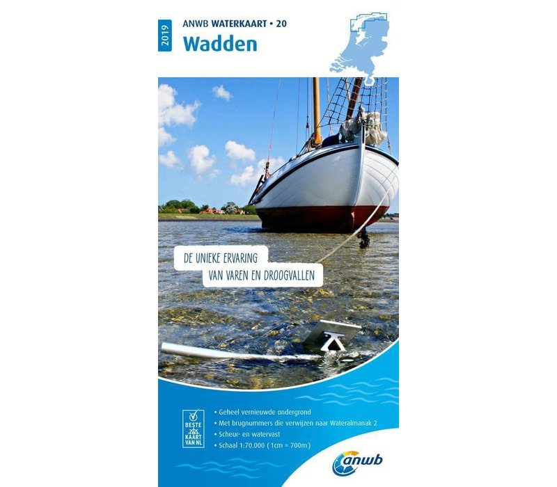 ANWB Waterkaart 20 Wadden 2019