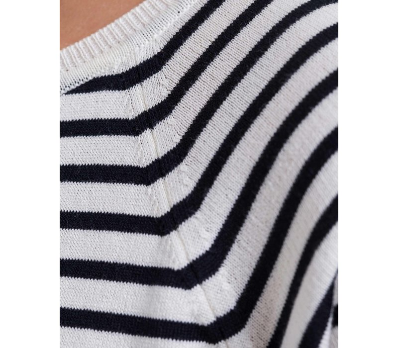 HOLEBROOK LOLLO DRESS OFFWHITE/NAVY