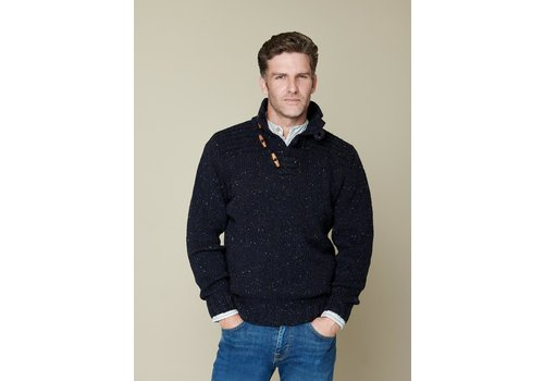 Fisherman out of Ireland Toggle Button Collar Navy