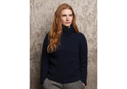 Fisherman out of Ireland FISHERMAN OUT OF IRELAND POLO NECK SWEATER NAVY