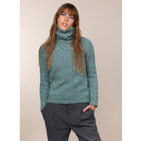 FISHERMAN OUT OF IRELAND POLO NECK SWEATER SEA GREEN