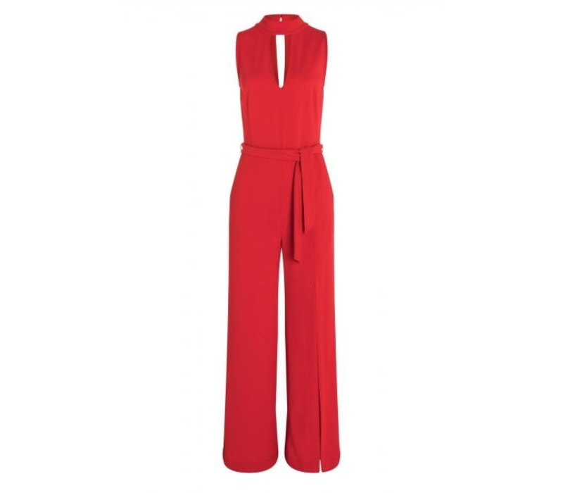 ANA ALCAZAR JUMPSUIT WITHOUT SPLIT RED