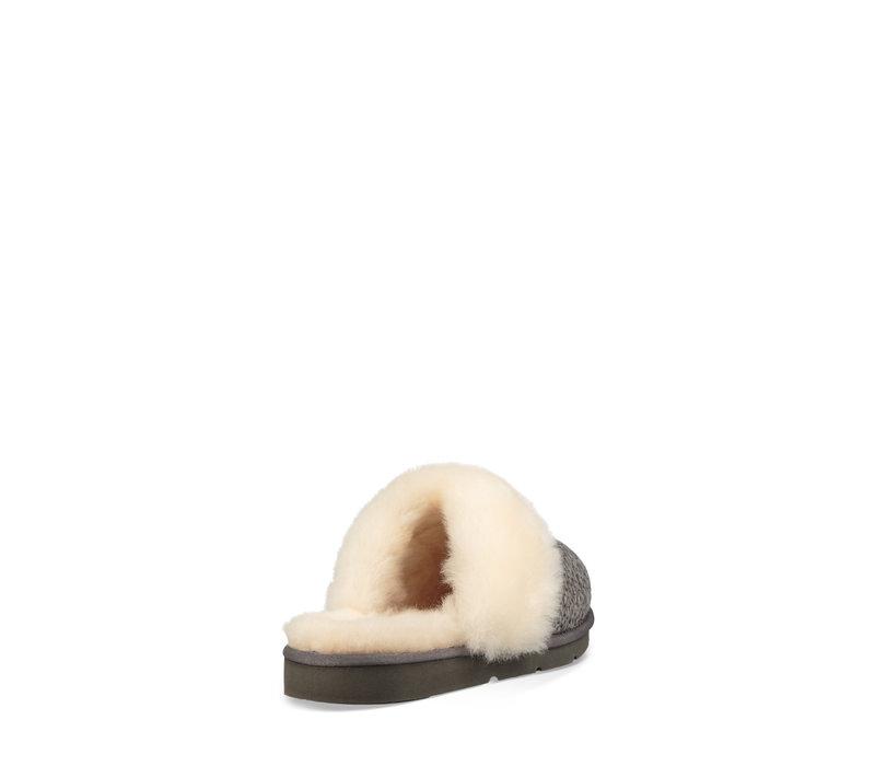 Women's Cozy Knit Slipper Charcoal