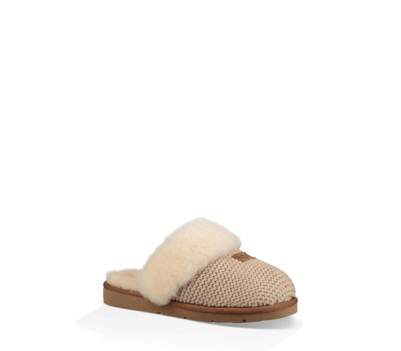 Women's Cozy Knit Slipper Creme