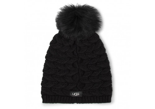 Ugg Women's Cable Hat With Pom Black