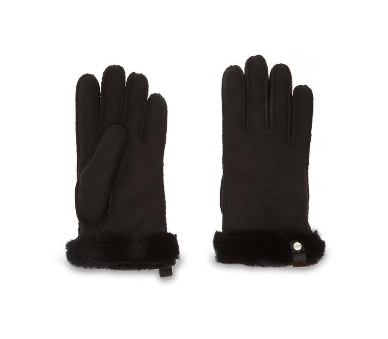 Ugg Shorty Glove Leather Black