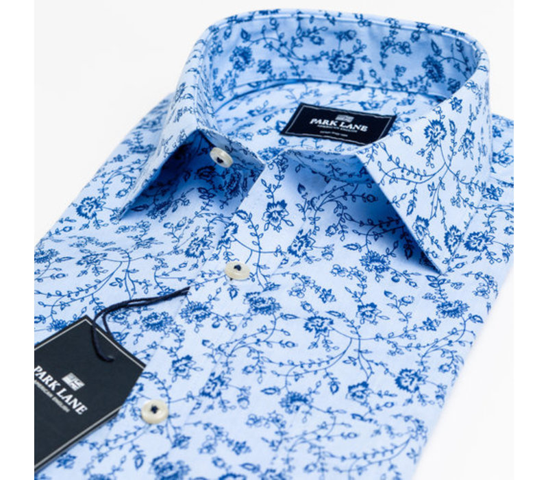 Park Lane Shirt Flower Light Blue