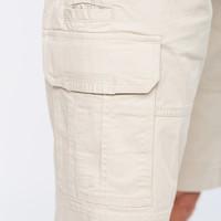 Park Lane Cargo Shorts Basic Elastic Waist Sand