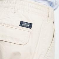 Park Lane Cargo Shorts Basic Elastic Waist Khaki