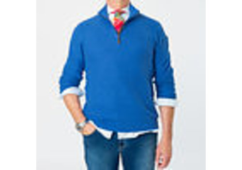 Park Lane Park Lane Zip Pullover Smal Structure Royal Blue