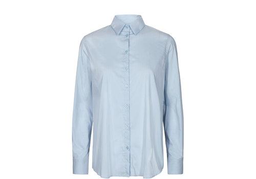 Mos Mosh Mos Mosh Martina Fine Stripe Shirt Celestial Blue