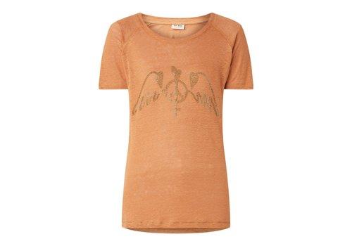Mos Mosh Mos Mosh Mag Linen T-shirt Bran