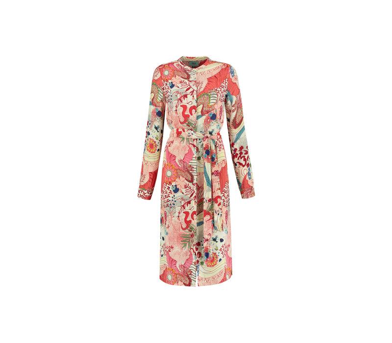 POM Dress Full of Luck Raspberry by Katja