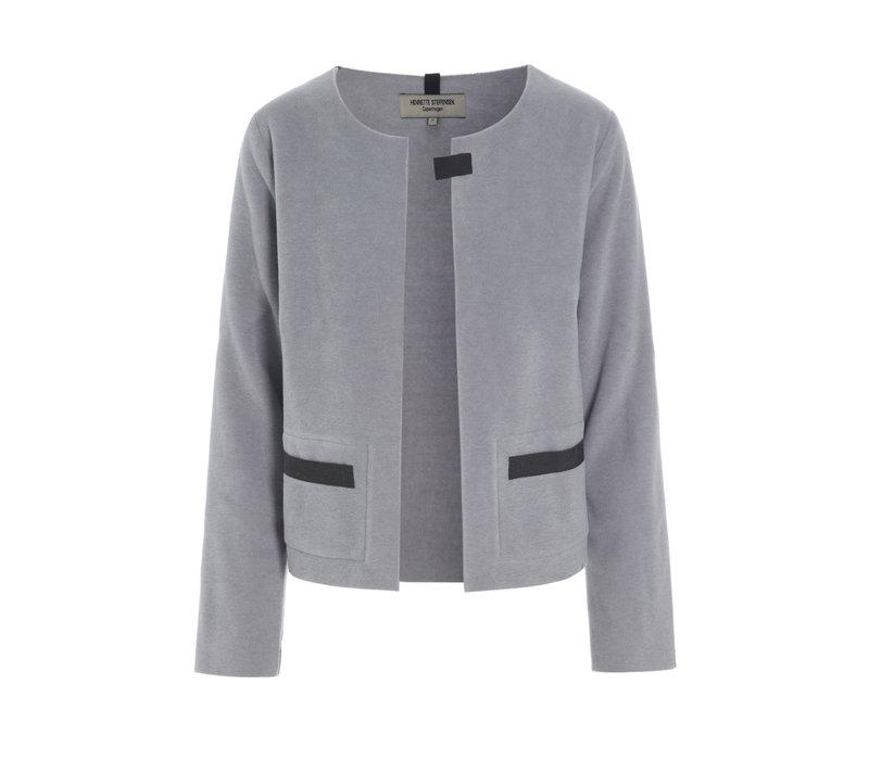 Henriette Steffensen Cardigan Short 7109 Grey Blue