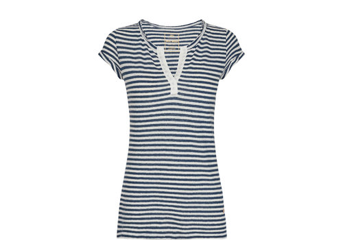 Mos Mosh Mos Mosh Troy Stripe Tee Dark Denim