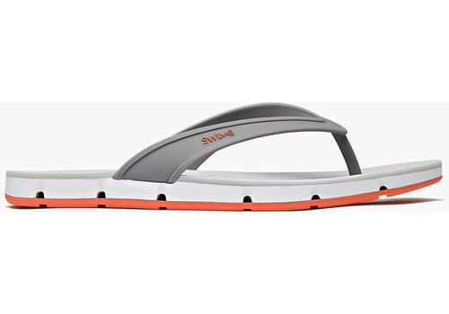 SWIMS Swims Breeze Tong Sandal Grey/White/Orange