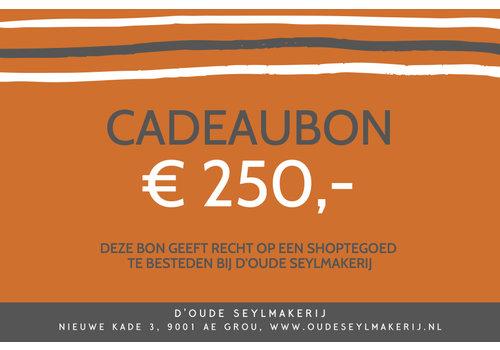 Cadeaubon € 250