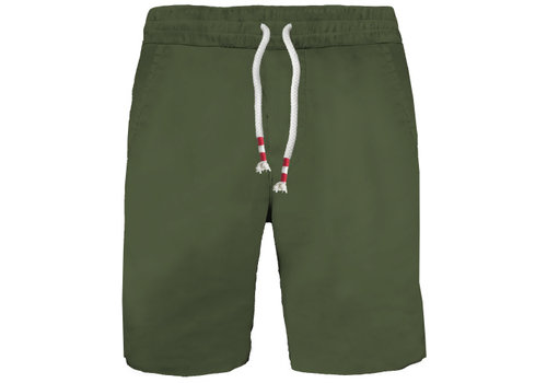 MC2 Saint Barth Mc2 Saint Barth Randle Raw Cut Cotton Fleece Short Military